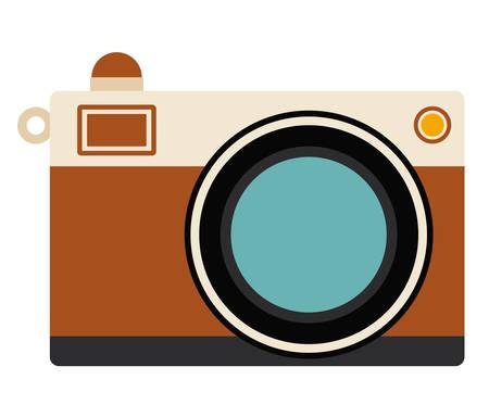 digicam: Camera icon. retro technology gadget and antique theme. Isolated design. Vector illustration Illustration