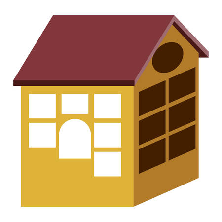 residential neighborhood: Home building icon. house architecture and real esate theme. Isolated design. Vector illustration