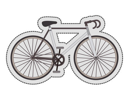 vitality: Bike bicycle cycle icon. Healthy lifestyle sport and transportation theme. Isolated design. Vector illustration