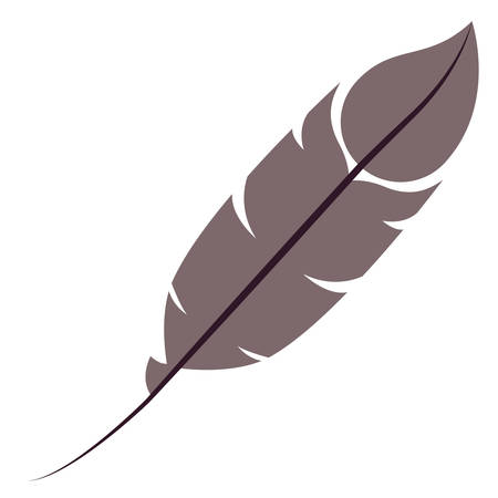plume: Feather plume icon. Vintage decorative and ornament theme. Isolated design. Vector illustration