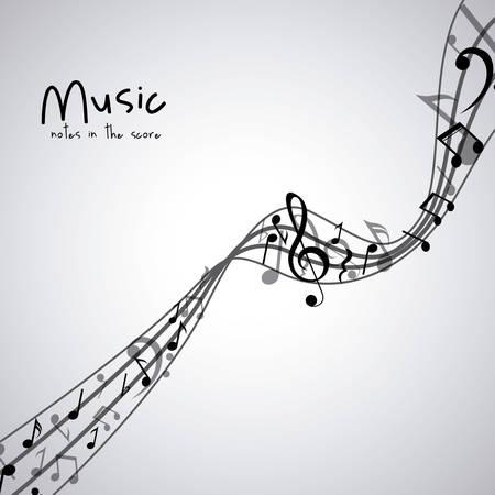 pentagramma musicale: Icona isolata musica nota. pentagramma melodia del suono e il tema musicale. illustrazione di vettore