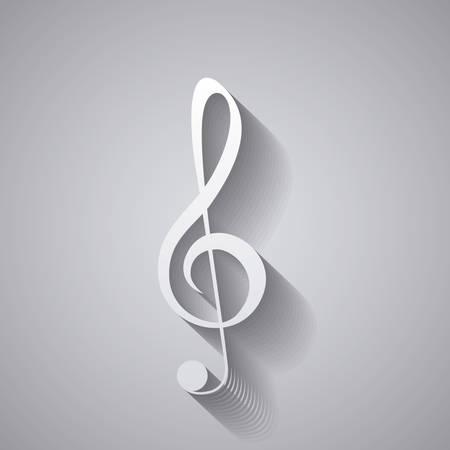 Aislado icono de nota musical. Sonido pentagrama la melodía y el tema musical. ilustración vectorial