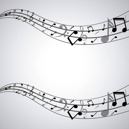 music pentagram: Icona isolata musica nota. pentagramma melodia del suono e il tema musicale. illustrazione di vettore