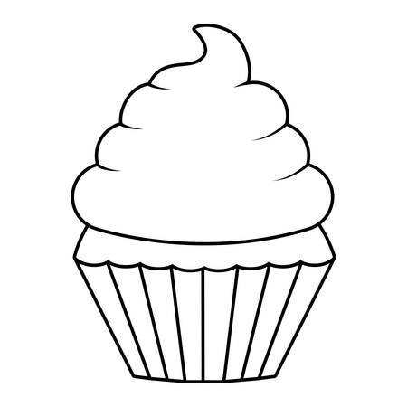 Muffin and cupcake icon. Dessert sweet and food theme. Isolated design. Vector illustration