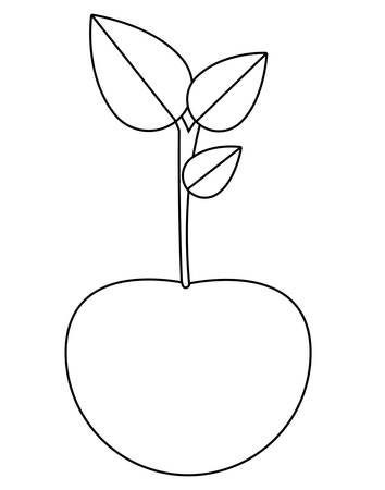 market gardening: Cherry silhouette icon. Healthy and organic food theme. Isolated design. Vector illustration