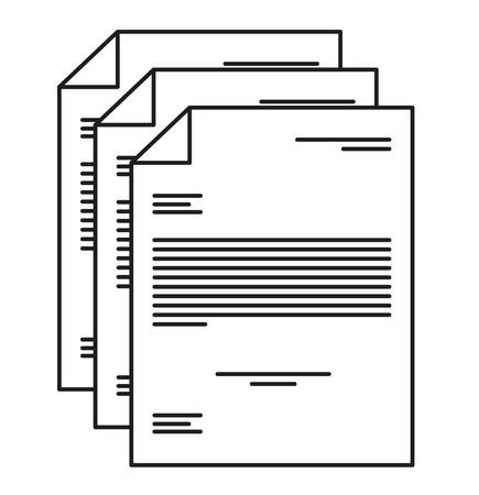 piece of paper: Piece of paper icon. Document data and information theme. Isolated design. Vector illustration Illustration