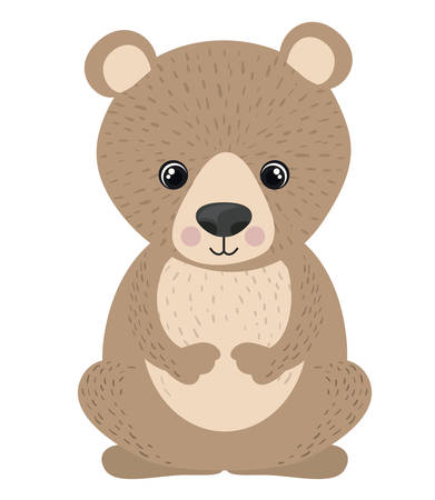 forest conservation: Bear cartoon icon. Forest animal theme. Isolated design. Vector illustration Illustration