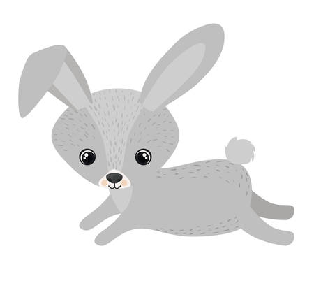 forest conservation: Rabbit cartoon icon. Forest animal theme. Isolated design. Vector illustration