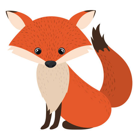 clever: Fox cartoon icon. Forest animal theme. Isolated design. Vector illustration Illustration