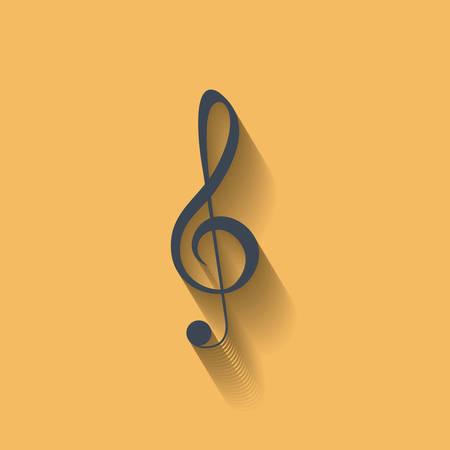 pentagramma musicale: Musica icona della nota. la melodia del suono e il tema musicale. design colorato. illustrazione di vettore