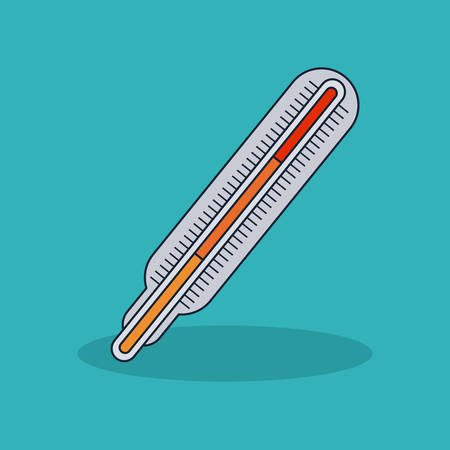 Thermometer icon. Medical and health care theme. Colorful design. Vector illustration