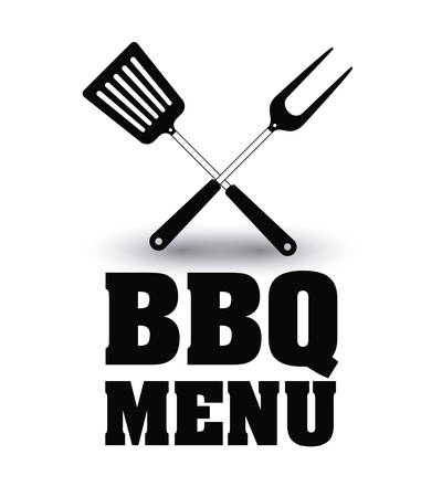 turner: turner fork bbq and grill menu icon. Steak house food and restaurant theme. Isolated design. Vector illustration
