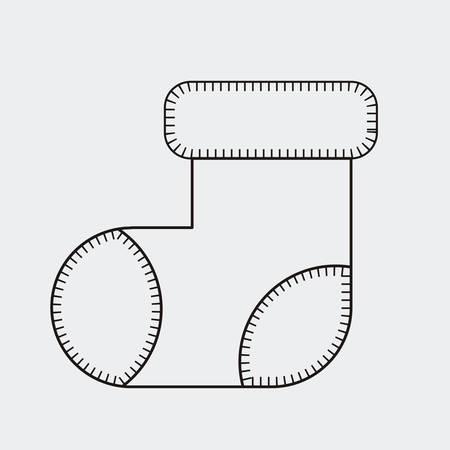 Boot-Symbol. Frohe Weihnachtszeit und Dekoration Thema. Vektor-Illustration