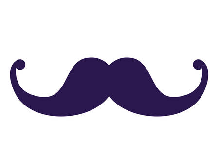 Mustache icon. Accesory fashion and optical theme. Colorful design. Vector illustration Illustration