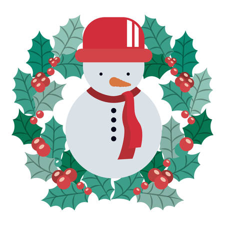 christmas crown: Snowman and crown icon. Merry Christmas season and decoration theme. Isolated design. Vector illustration Vectores