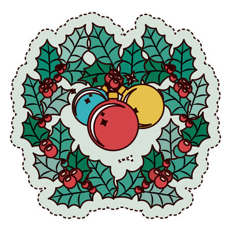 christmas crown: Sphere and crown icon. Merry Christmas season and decoration theme. Isolated design. Vector illustration