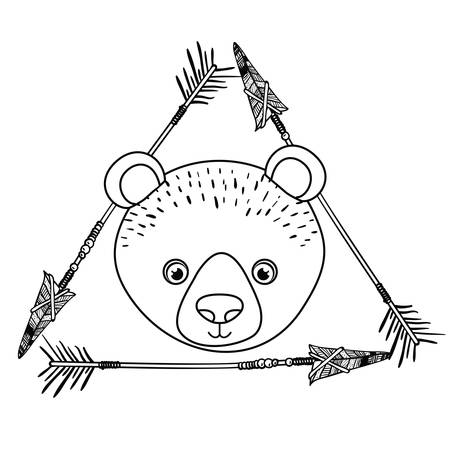 Bear icon. Animal cartoon and nature theme. Isolated and drawn design. Vector illustration