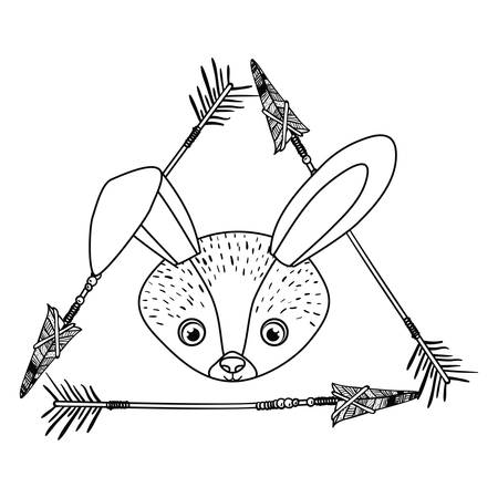 Rabbit icon. Animal cartoon and nature theme. Isolated and drawn design. Vector illustration Illustration