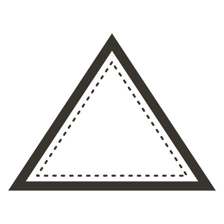 vintage theme: Ornament triangle icon. Decoration and vintage theme. Isolated and drawn design. Vector illustration