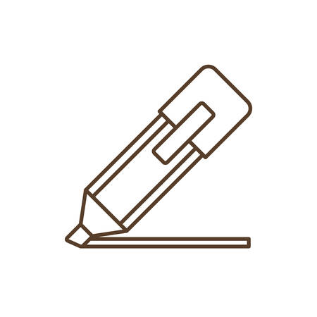 secretarial: Marker icon. Write tool school and office theme. Isolated design. Vector illustration