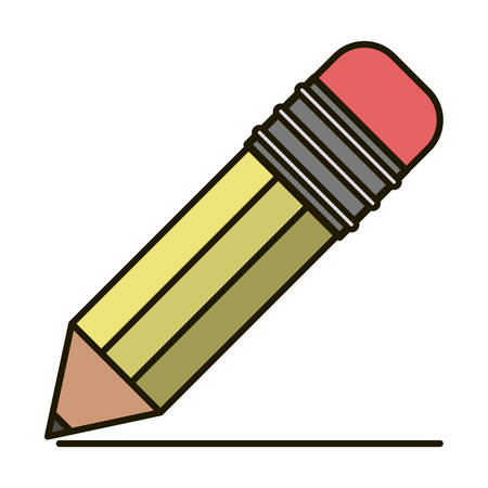 secretarial: Pencil icon. Write tool school and office theme. Isolated design. Vector illustration