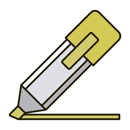 Marker icon. Write tool school and office theme. Isolated design. Vector illustration