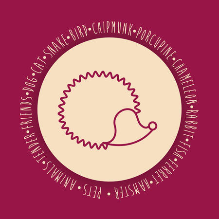 porcupine: Porcupine icon. Animal pet cartoon and nature theme. Colorful design. Vector illustration