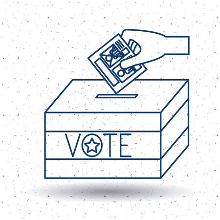 presidental: Box icon. Vote election nation and government theme. Silhouette and isolated design. Vector illustration Illustration