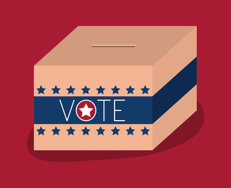 conscientious: Box icon. Vote election nation and government theme. Colorful design. Vector illustration