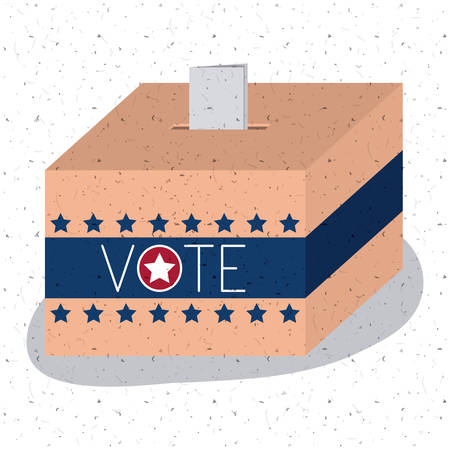 presidental: Box icon. Vote election nation and government theme. Colorful design. Vector illustration