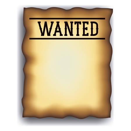 western theme: Wanted paper poster icon. Search and western theme. Vintage retro and isolated design. Vector illustration Illustration