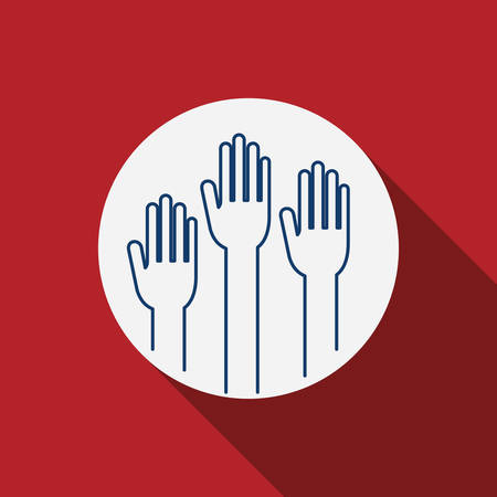 conscientious: Hand icon. Vote election nation and government theme. Silhouette design. Vector illustration Illustration
