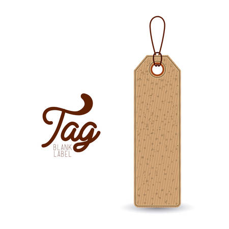 paperboard: hanging tag of paperboard material icon. Price offer discount and market design. Isolated design. Vector illustration