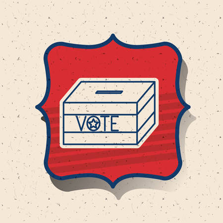 presidental: Box inside frame icon. Vote election nation and government theme. Silhouette design. Vector illustration Illustration