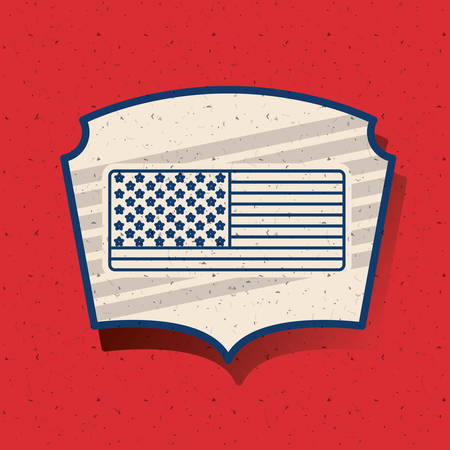 conscientious: Flag inside frame icon. Vote election nation and government theme. Silhouette design. Vector illustration Illustration
