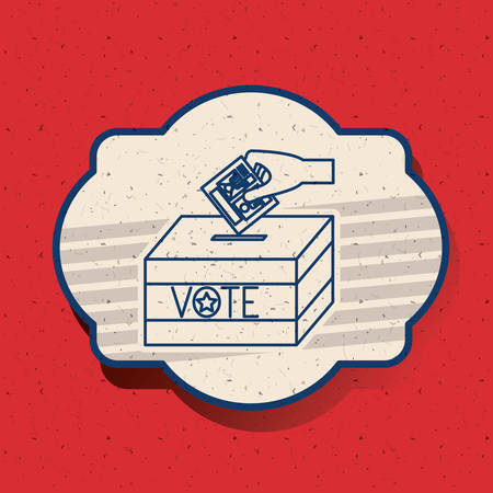 celebrities: Box inside frame icon. Vote election nation and government theme. Silhouette design. Vector illustration Illustration