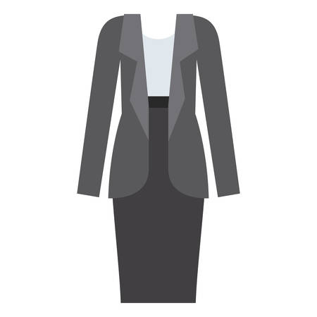 Female formal cloth icon. Fashion style and wear theme. Isolated design. Vector illustration Illustration