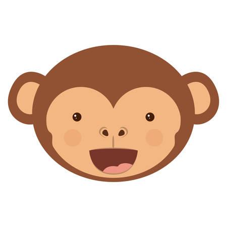 ape: Monkey cartoon icon. Animal ape and character theme. Isolated design. Vector illustration