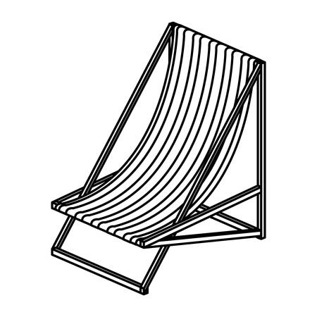 suns: Suns chair icon. Summer vacation and tropical theme. Isolated design. Vector illustration
