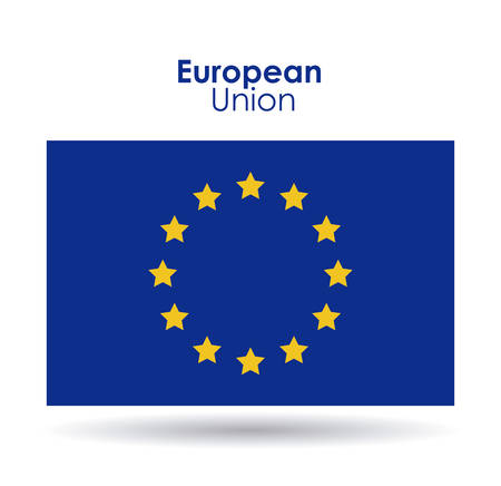 international crisis: European union flag icon. Europe nation and government theme. Colorful design. Vector illustration Illustration