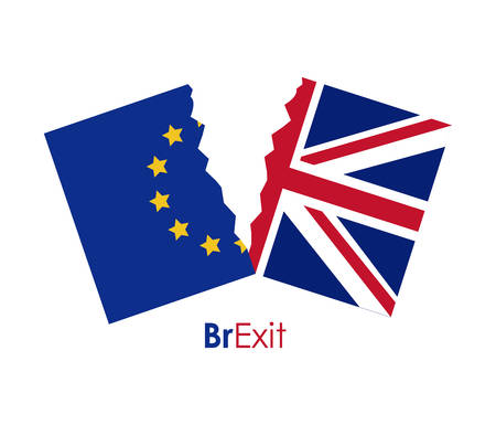 Brexit of the eruropean union icon. Europe nation and government theme. Colorful design. Vector illustration
