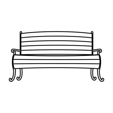 wood chair: Chair in wood with legs and arms vector illustration Illustration