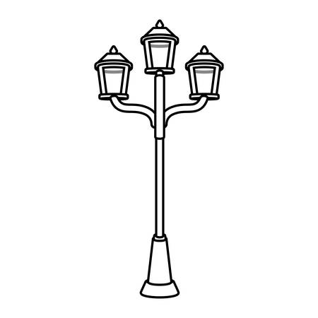 drawing luminaires with three lamps vector illustration Illustration