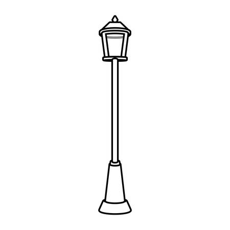 luminaire: singular Park lighting with lamp vector illustration