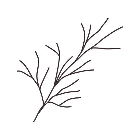 stem: stem silhouette drawing with branches vector illustration Illustration