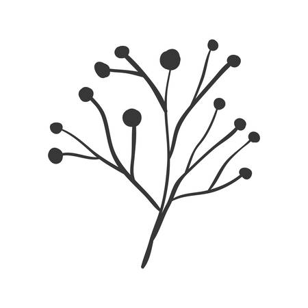 ramification: ramifications tree with stem and branches vector illustration Illustration