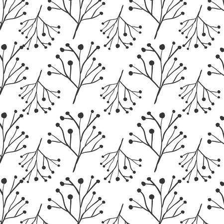 ramification: pattern ramifications tree with stem and branches vector illustration Illustration