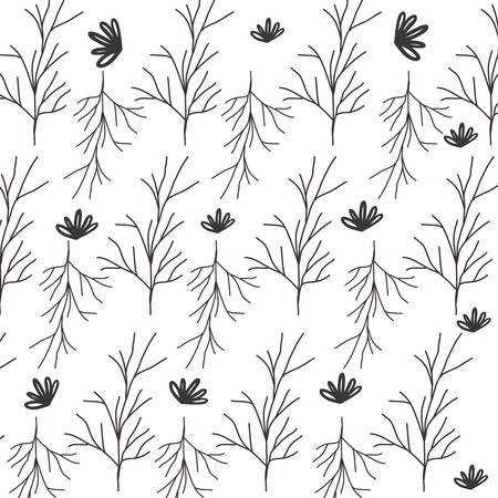 ramification: pattern of stem with multiple branches vector illustration