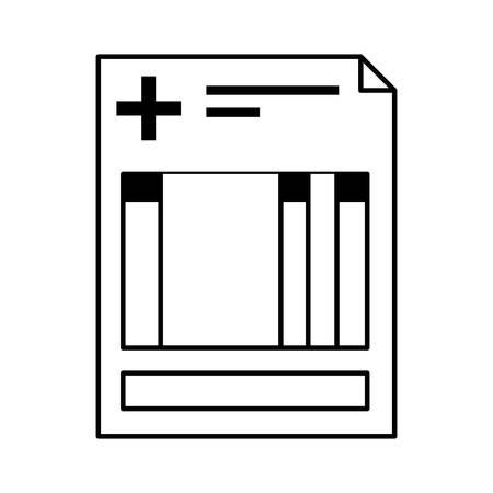 historia clinica: clínica de la silueta de hoja de la historia con la ilustración vectorial cruz Vectores