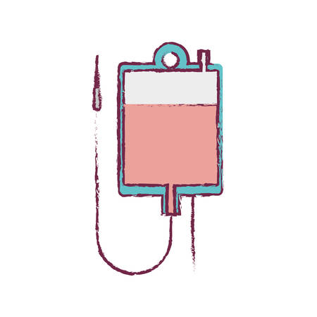 rh: blur blood donation bag and colorfull vector illustration